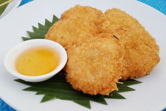 Deep-fried shrimp cakes Royalty Free Stock Photos