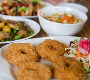 Deep-fried shrimp cakes Stock Photography