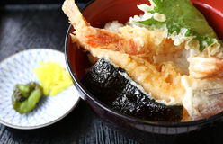 Deep fried shrimp called Tempura Royalty Free Stock Images