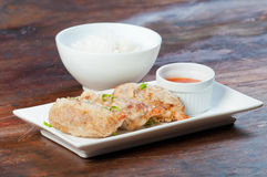 Deep fried shrimp covered with ground pork Stock Photography