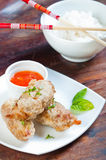 Deep fried shrimp covered with ground pork Royalty Free Stock Photos