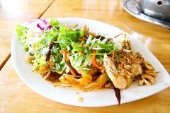 Deep fried shrimp platter Royalty Free Stock Photo