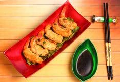 Deep fried shrimp and pork rolls Royalty Free Stock Photo