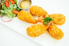 Deep fried shrimp or prawn cake Royalty Free Stock Photography