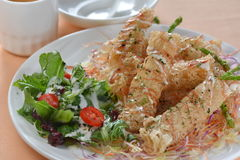 Deep fried shrimp puffy Stock Photos