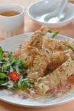 Deep fried shrimp puffy Stock Image