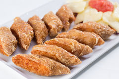 Deep fried shrimp rolled Stock Images
