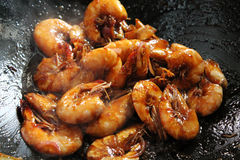 Deep Fried Shrimp with special Sauces Royalty Free Stock Photos