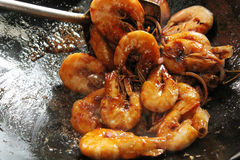 Deep Fried Shrimp with special Sauces Royalty Free Stock Photo