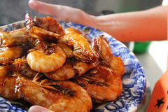 Deep Fried Shrimp with special Sauces Stock Photography