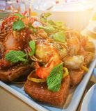 Deep Fried Shrimp with Tamarind Sauce. Deep Fried Shrimp with Tamarind Sauce, popular Thai food Royalty Free Stock Photography