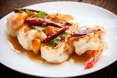 Deep Fried Shrimp with Tamarind Sauce Stock Image