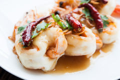 Deep Fried Shrimp with Tamarind Sauce. Stock Images