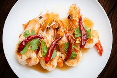 Deep Fried Shrimp with Tamarind Sauce Stock Photography