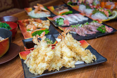 Deep fried shrimp tempura Stock Images