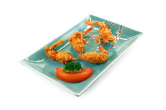 Deep fried shrimps Royalty Free Stock Photos