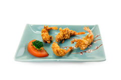 Deep fried shrimps Stock Photography