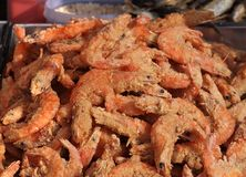 Deep Fried Shrimps for Sale Stock Photography