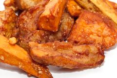 Deep fried sliced banana,taro, sweet potato. Deep fried sliced banana,taro,sweet potato Stock Photography