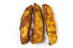 Deep-fried sliced  sweet potato Stock Photography