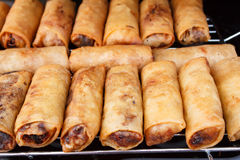 Deep fried snacks : spring roll Stock Photos