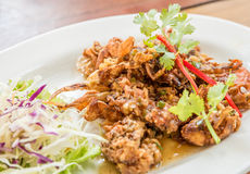 Deep fried soft shell crab Royalty Free Stock Photos