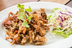 Deep fried soft shell crab Stock Image