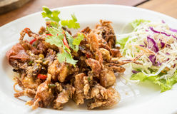 Deep fried soft shell crab Stock Photo