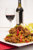 Deep fried soft shell crab with curry powder, Thai food. Royalty Free Stock Photos
