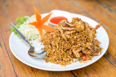 Deep fried Soft Shell Crab with garlic and pepper, chili. Royalty Free Stock Photo