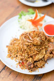 Deep fried Soft Shell Crab with garlic and pepper, chili. Royalty Free Stock Images