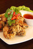 Deep fried Soft Shell Crab garlic and pepper meal Stock Image
