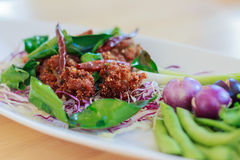 Deep fried spicy minced pork ball Royalty Free Stock Photography