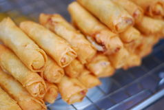 Deep fried spring roll Stock Photo