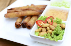 Deep fried spring roll Royalty Free Stock Image