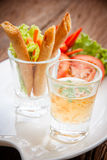 Deep fried spring roll Royalty Free Stock Photography