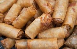 Deep fried spring rolls. Street food in bangkok Royalty Free Stock Photography