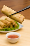 Deep Fried Spring Rolls Stock Images