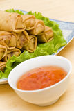 Deep Fried Spring Rolls Royalty Free Stock Images