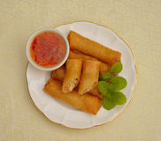 Deep fried spring rolls Stock Image