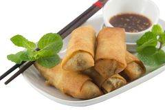 Deep fried spring rolls Royalty Free Stock Photography