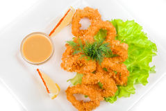 Deep-fried squid Stock Image