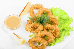 Deep-fried squid Royalty Free Stock Photography