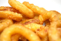 Deep fried Squid Stock Photography