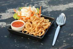 Deep fried squid Royalty Free Stock Images
