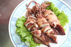 Deep Fried Squid Garlic and Pepper. Royalty Free Stock Photos