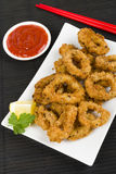 Oriental Deep Fried Squid Rings Stock Photo