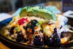 Deep fried sushi rolls Stock Photo