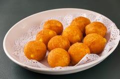 Deep-fried sweet potato balls royalty free stock photos