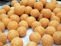 Delicious Deep Fried Sweet Potato Balls royalty free stock photo